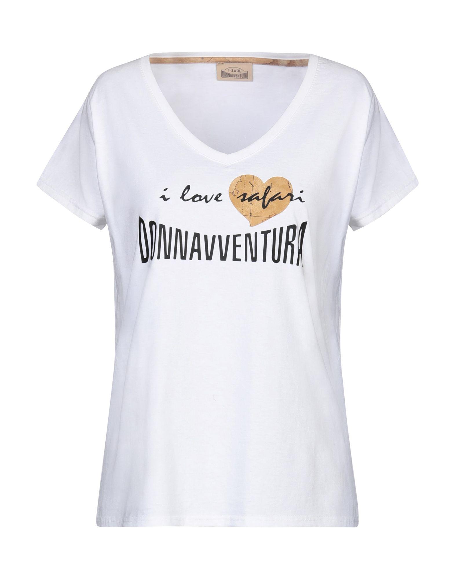 《セール開催中》DONNAVVENTURA by ALVIERO MARTINI 1a CLASSE レディース T シャツ ホワイト L コットン 100% / ポリウレタン