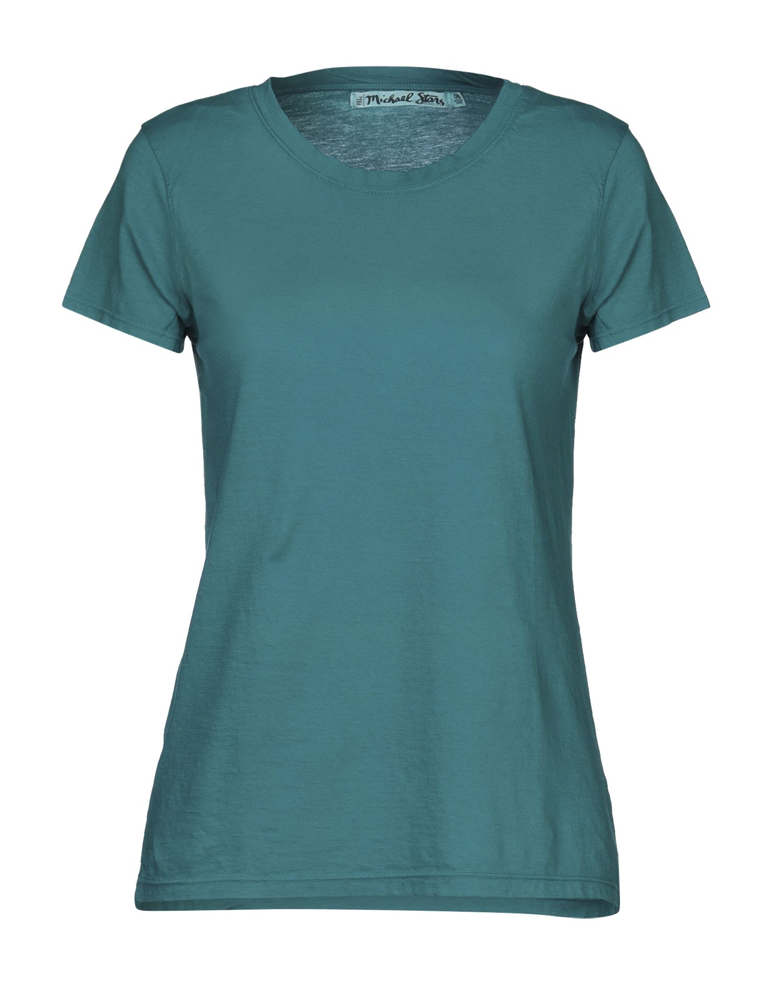 MICHAEL STARS T-shirts. jersey, no appliqués, basic solid color, round collar, short sleeves, no pockets. 100% Cotton
