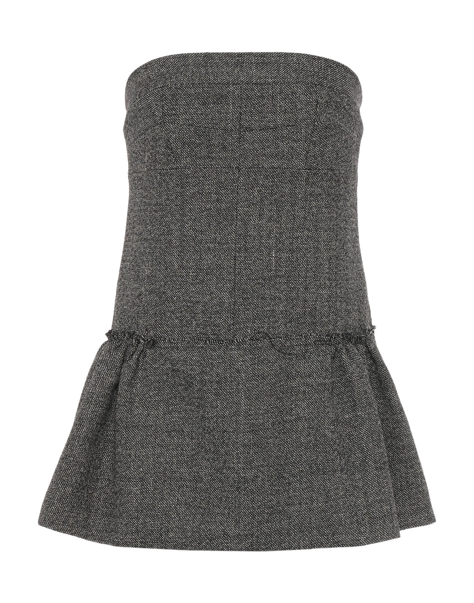 MARNI Tube tops. flannel, no appliqués, two-tone, deep neckline, sleeveless, rear closure, no pockets, zip, internal bra, large sized. 94% Virgin Wool, 6% Polyamide