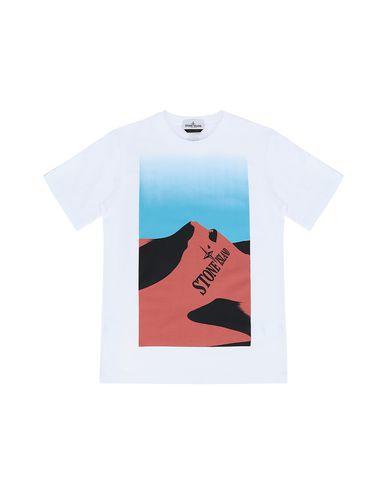 STONE ISLAND TEEN 21053 Short sleeve t-shirt Man White EUR 83