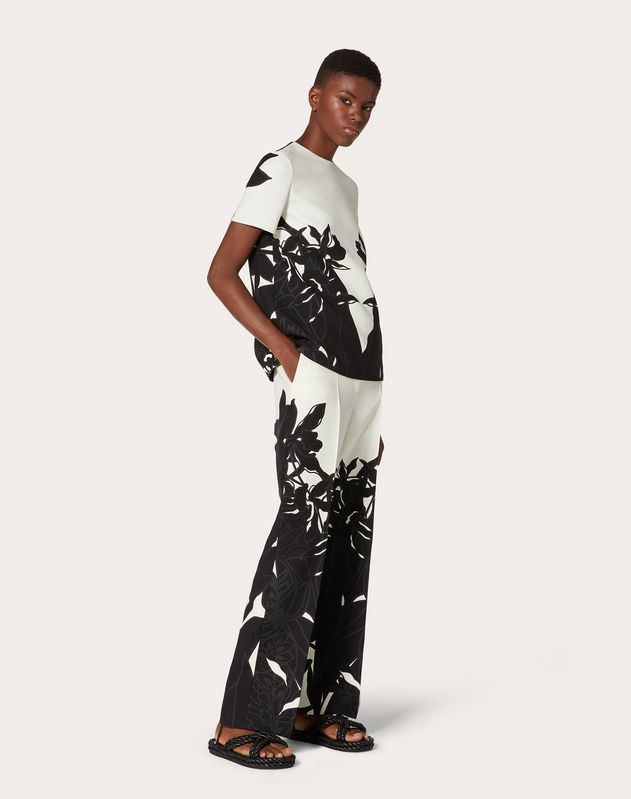 Printed Crepe Couture Top