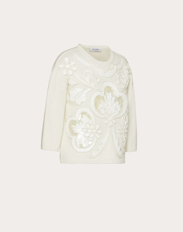 Embroidered Cashmere Wool Jumper