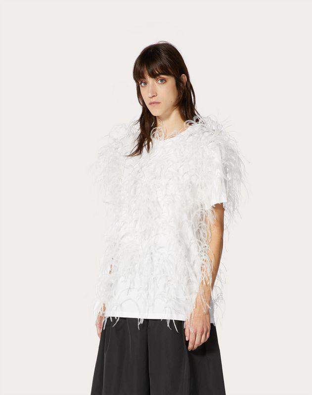 Besticktes Jersey-T-Shirt