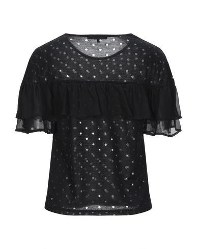 Фото 2 - Женскую футболку KORALLINE черного цвета