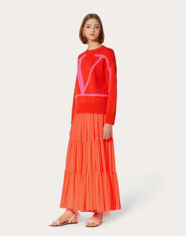 VLOGO Intarsia Cashmere Sweater