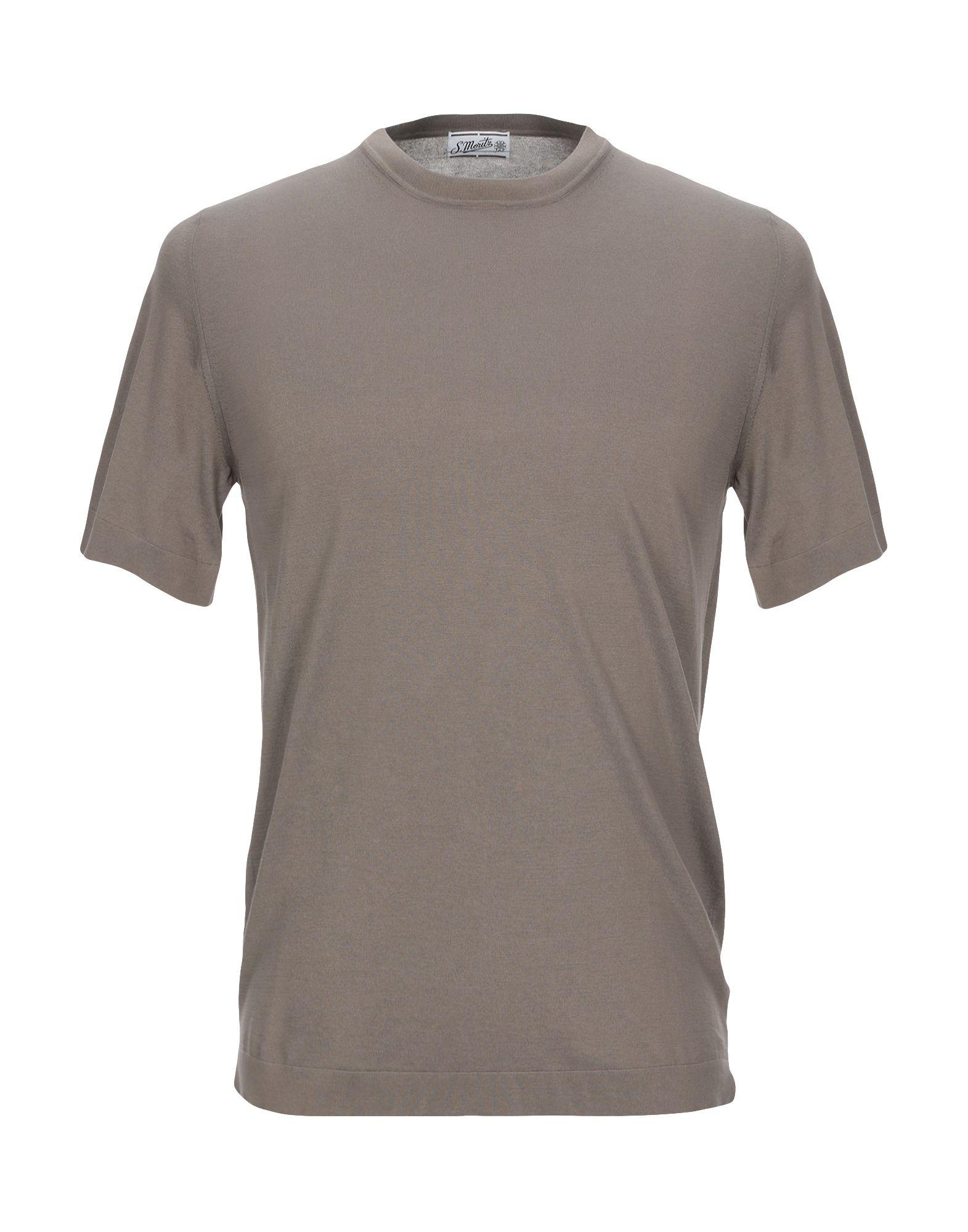 《セール開催中》S. MORITZ メンズ T シャツ ミリタリーグリーン 46 コットン 100%