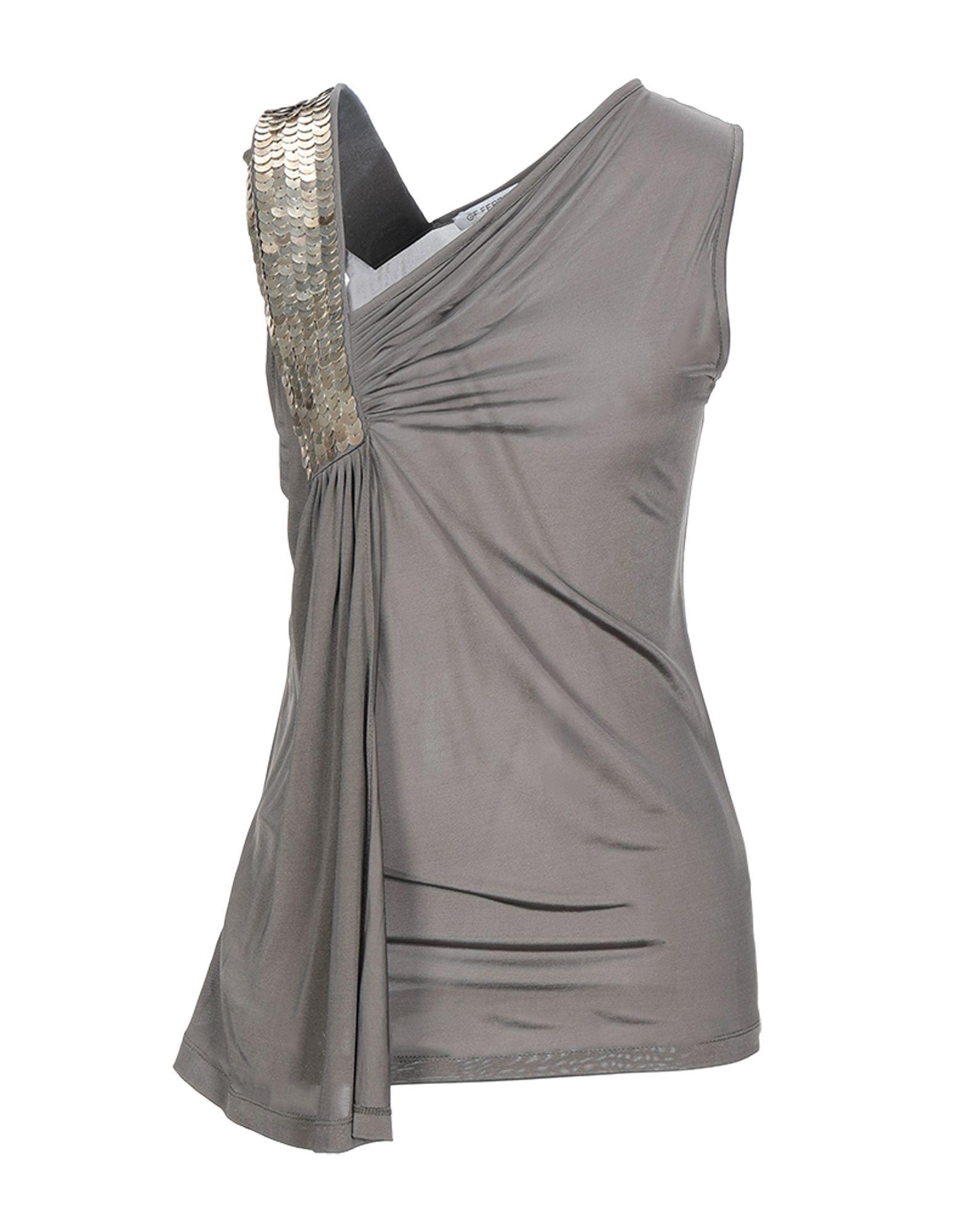 GF FERRE' Топ без рукавов прилегающее платье с длинными рукавами gf ferre