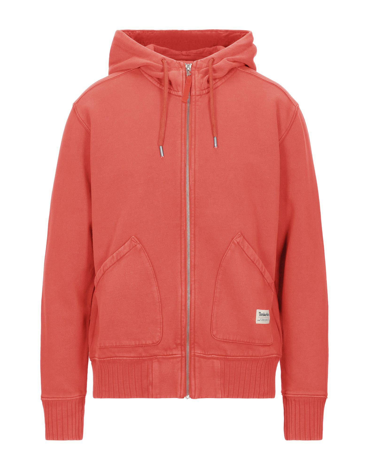 《セール開催中》TIMBERLAND メンズ スウェットシャツ オレンジ M コットン 80% / ポリエステル 20%