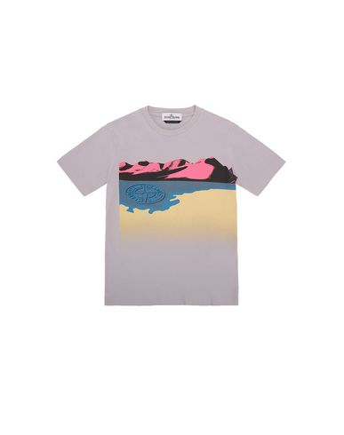 STONE ISLAND JUNIOR Short sleeve t-shirt Man 21055  f