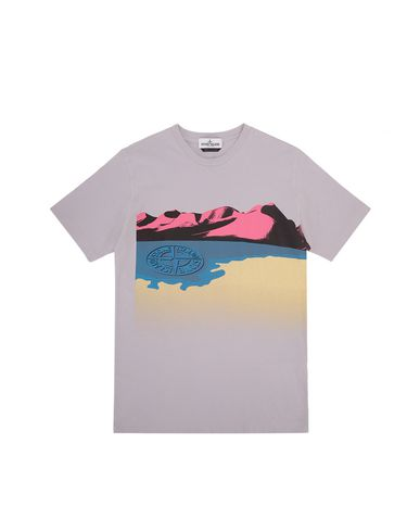 STONE ISLAND TEEN 21055  Short sleeve t-shirt Man Lavender EUR 83