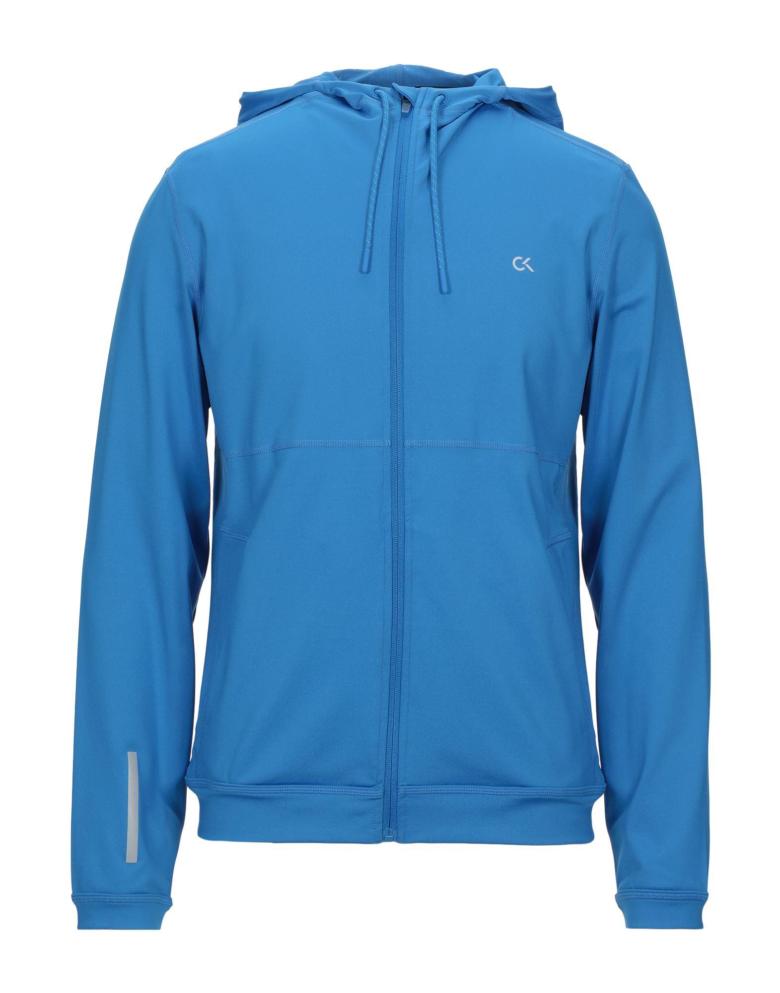 《セール開催中》CALVIN KLEIN PERFORMANCE メンズ スウェットシャツ ブルー M ポリエステル 88% / ポリウレタン 12%