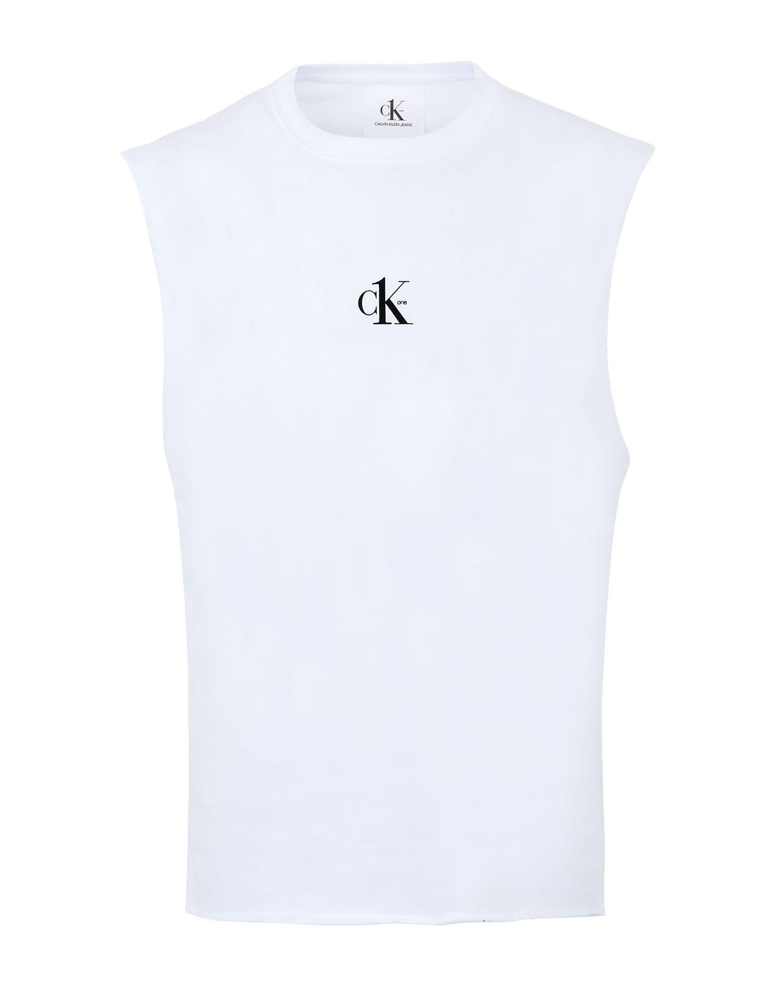 《セール開催中》CALVIN KLEIN JEANS メンズ T シャツ ホワイト XL コットン BCI 100% CK ONE - SMALL LOGO REGULAR SS