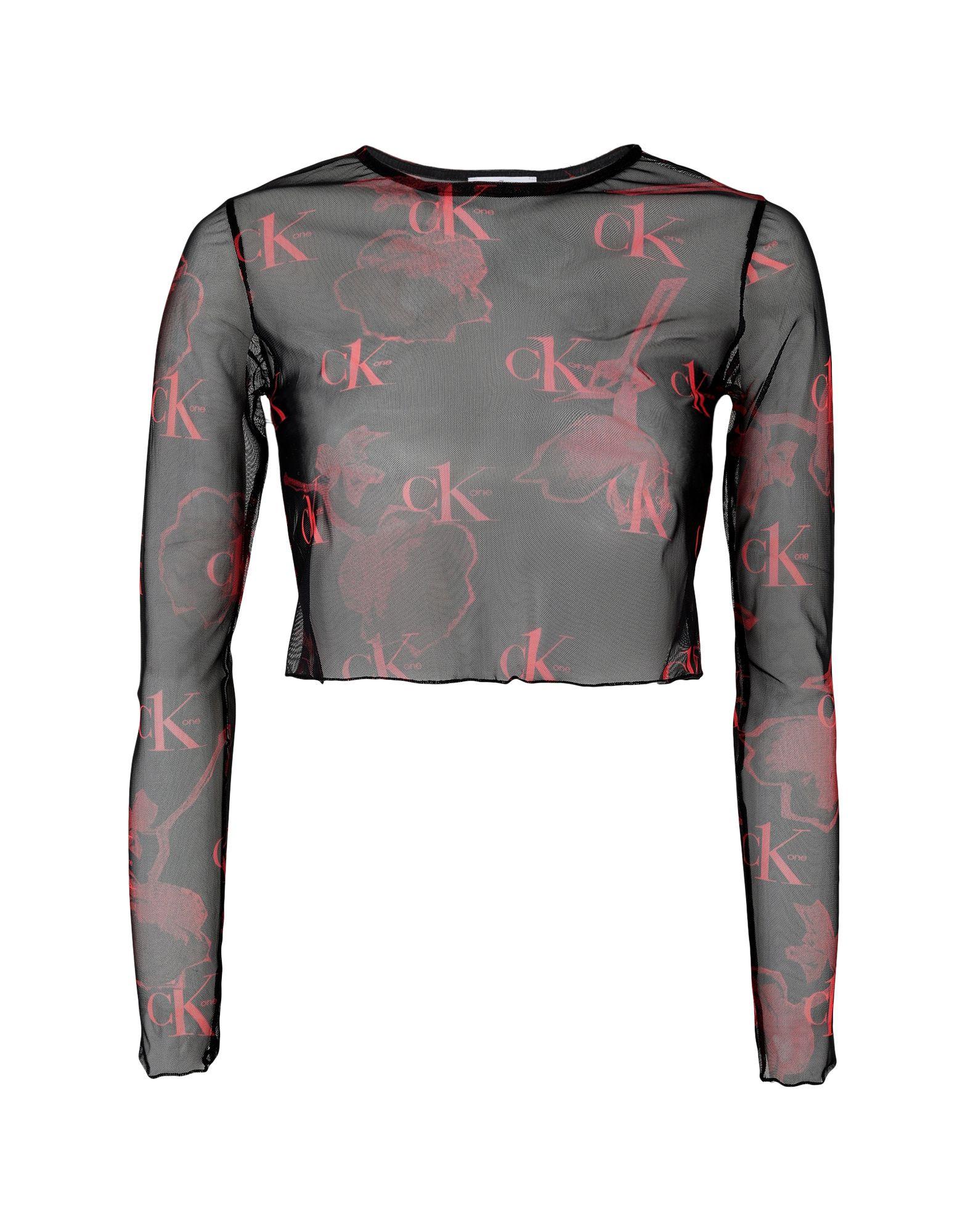 《セール開催中》CALVIN KLEIN JEANS レディース T シャツ ブラック XS ポリエステル 100% CK ONE - AOP MESH MODERN SLIM