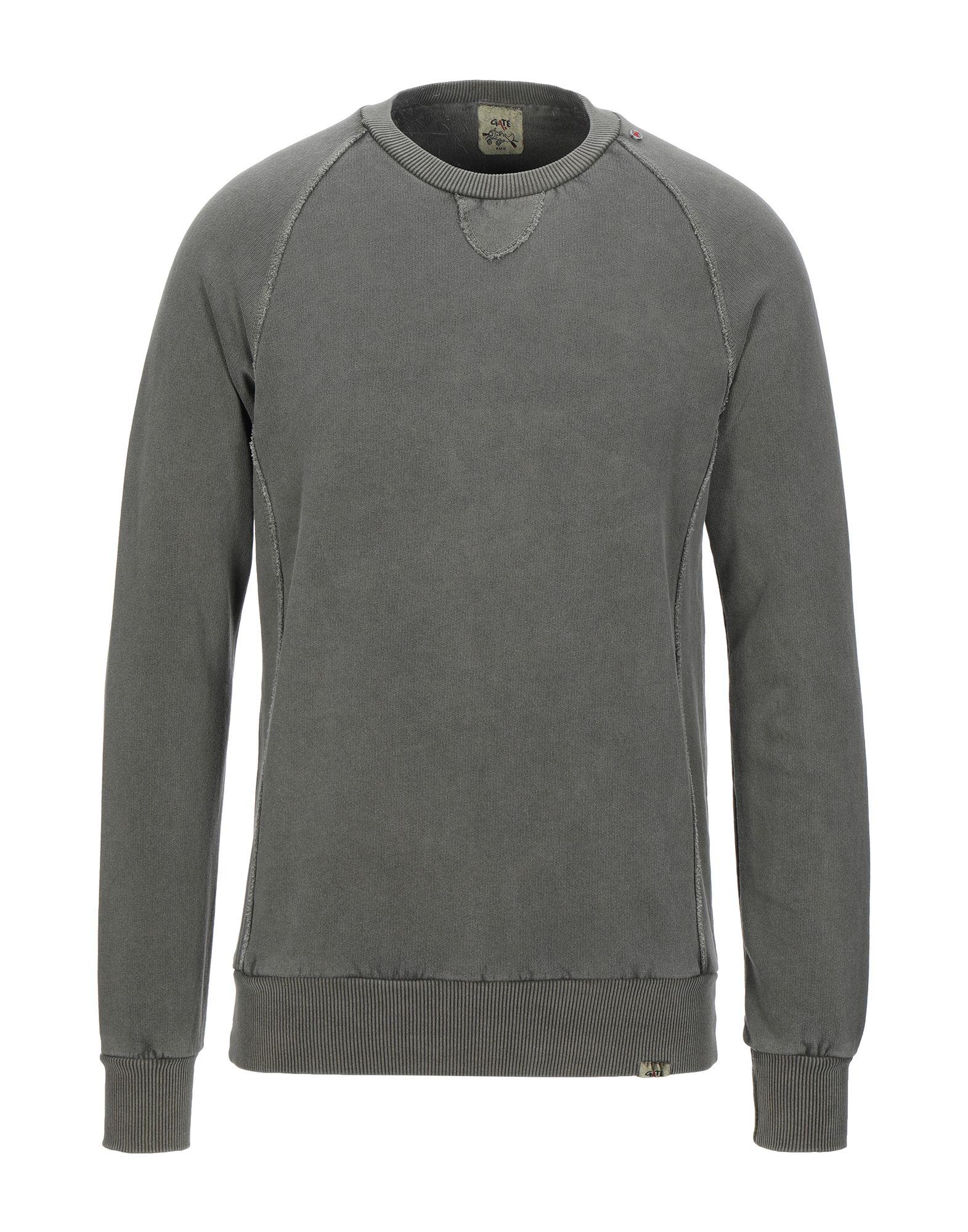 《セール開催中》GATE A3 メンズ スウェットシャツ カーキ S コットン 100%