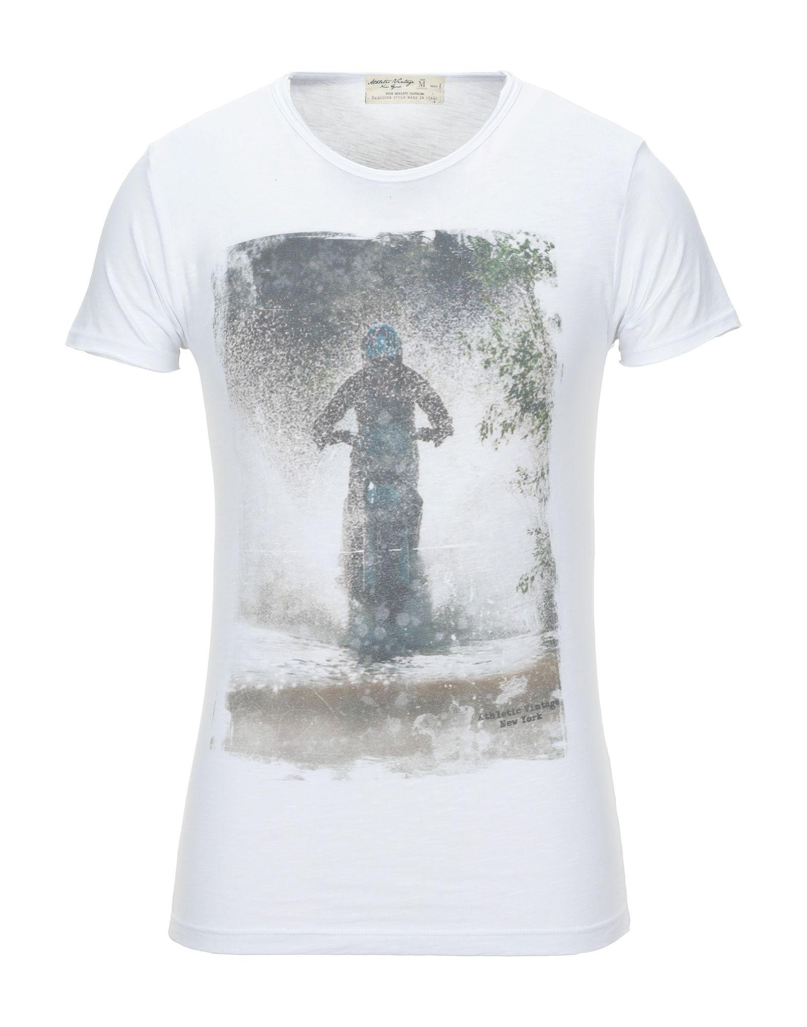 《セール開催中》ATHLETIC VINTAGE メンズ T シャツ ホワイト XXL コットン 100%