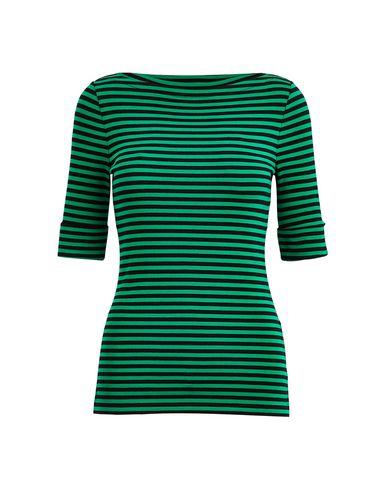 Фото - Женскую футболку LAUREN RALPH LAUREN зеленого цвета