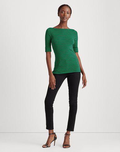 Фото 2 - Женскую футболку LAUREN RALPH LAUREN зеленого цвета