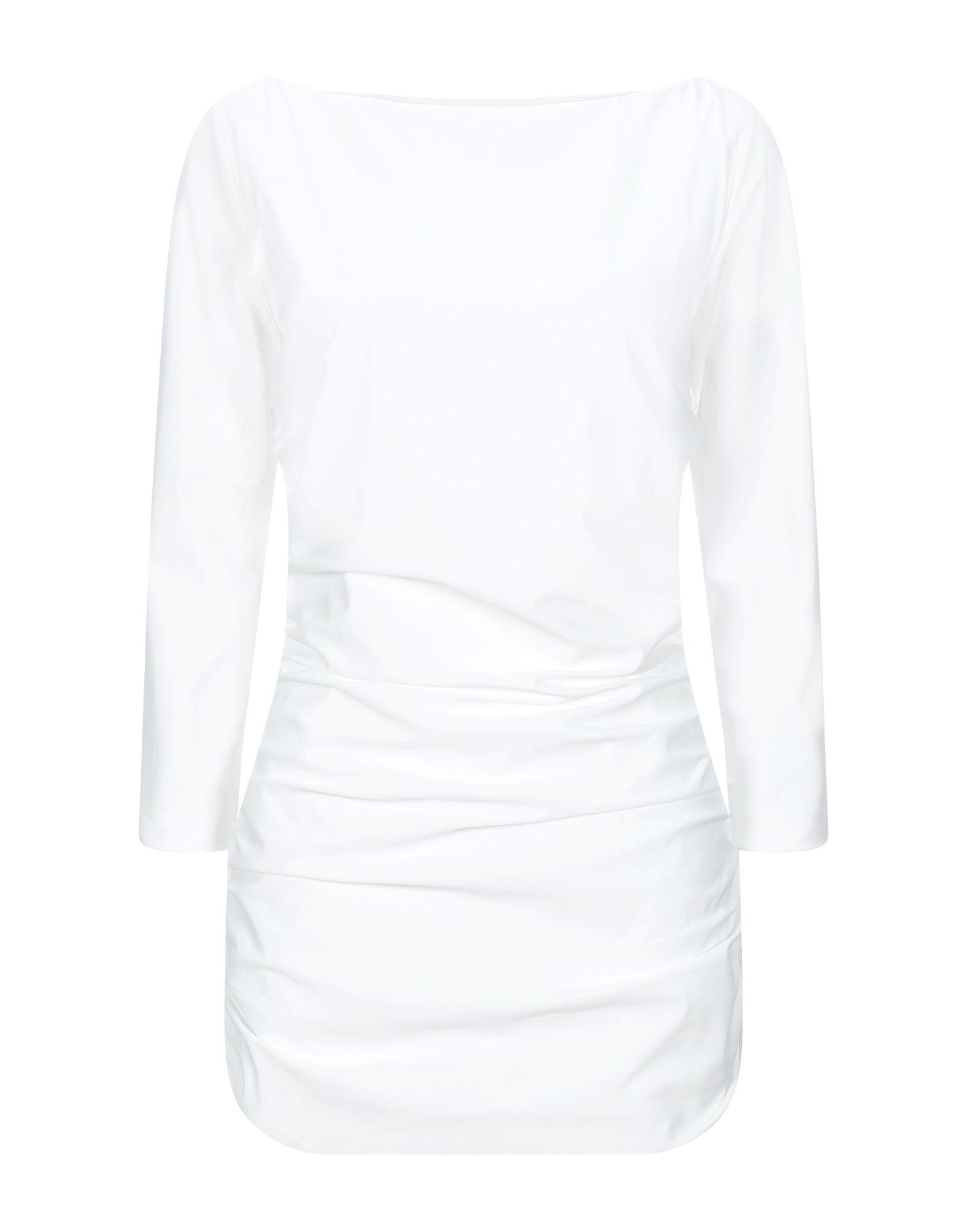 《セール開催中》CHIARA BONI LA PETITE ROBE レディース T シャツ ホワイト 38 ナイロン 72% / ポリウレタン 28%