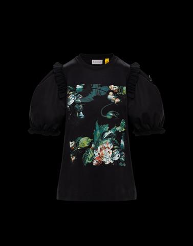 T恤 黑色 4 Moncler Simone Rocha 女士