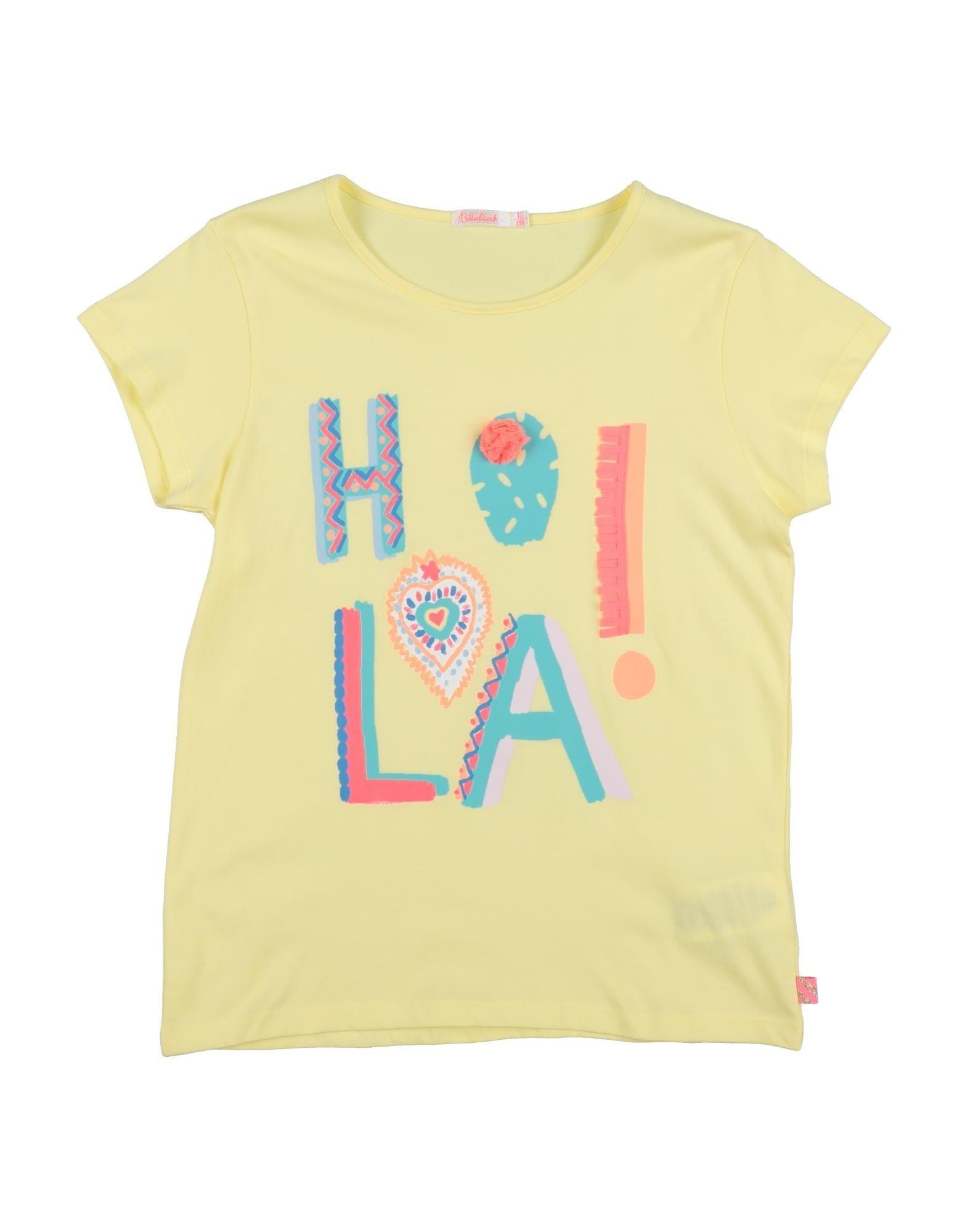 Billieblush Kids' T-shirts In Yellow