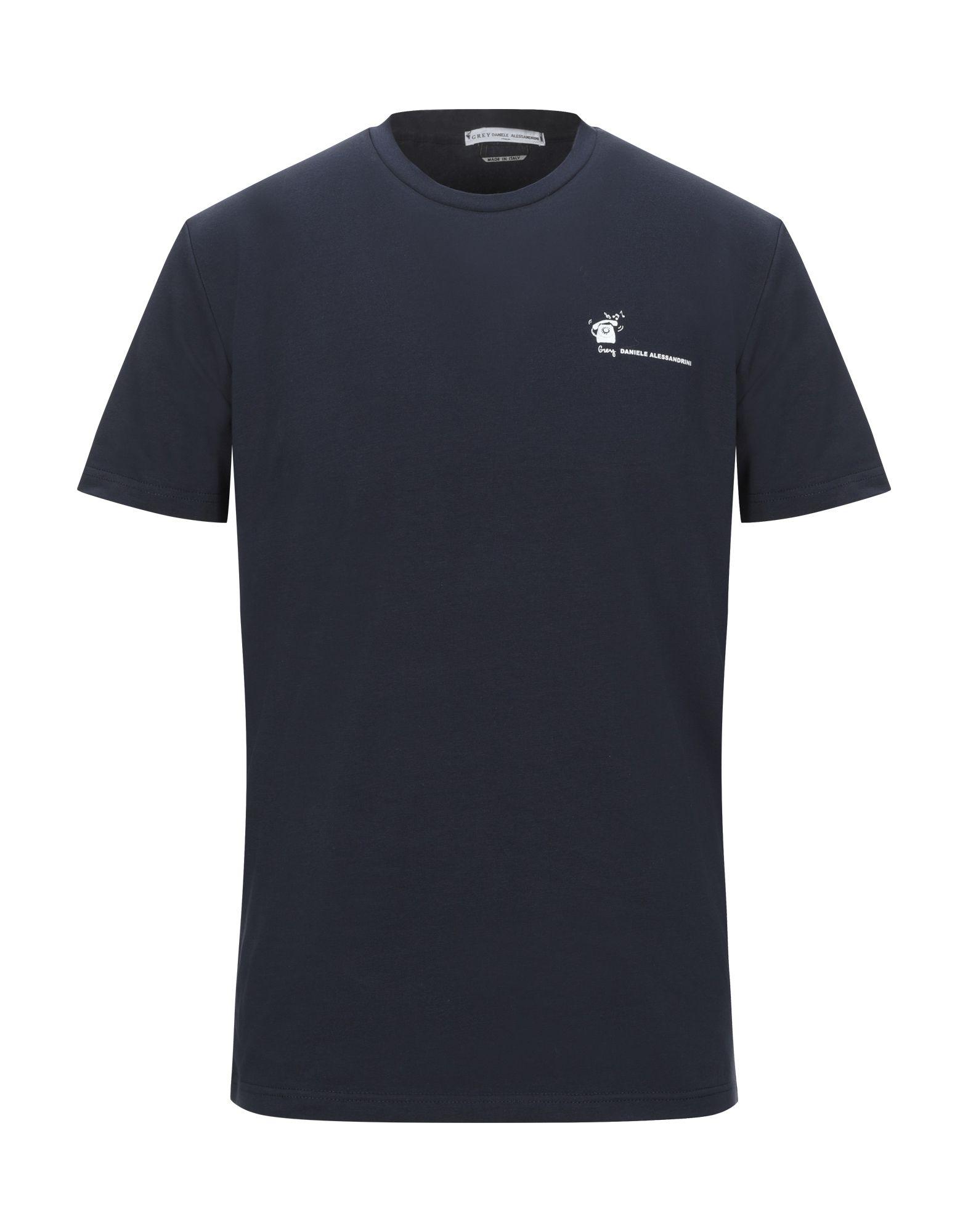 《セール開催中》GREY DANIELE ALESSANDRINI メンズ T シャツ ダークブルー S コットン 90% / ポリウレタン 10%
