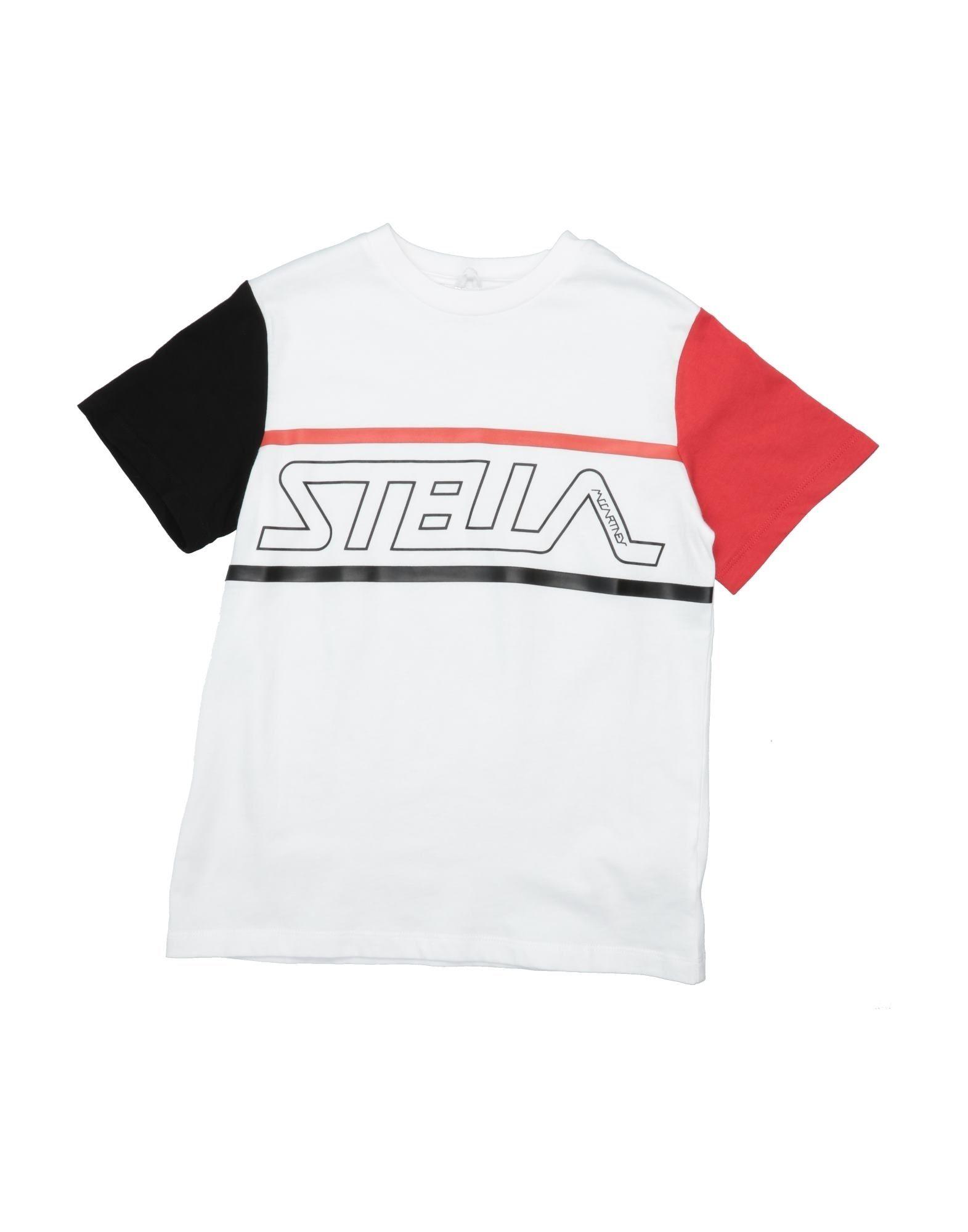 《セール開催中》STELLA McCARTNEY KIDS ボーイズ 9-16 歳 T シャツ ホワイト 10 コットン 100%
