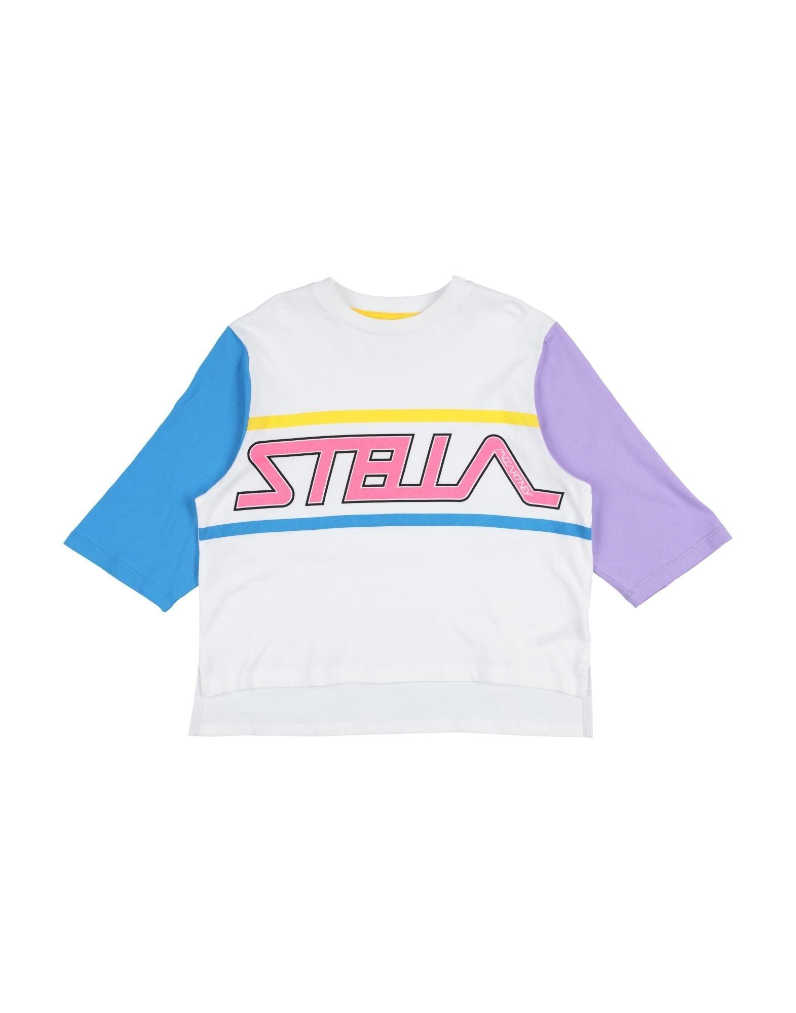 《セール開催中》STELLA McCARTNEY KIDS ガールズ 9-16 歳 T シャツ ホワイト 10 コットン 100% / ポリウレタン