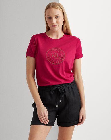 Фото 2 - Женскую футболку LAUREN RALPH LAUREN цвет пурпурный
