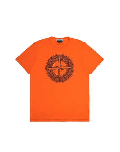 STONE ISLAND TEEN 21658 Short sleeve t-shirt Man Fluo orange EUR 90