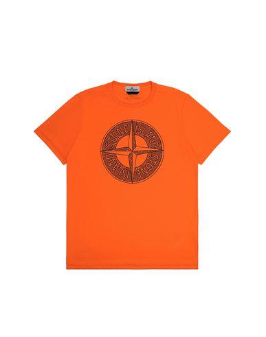 STONE ISLAND TEEN 21658 Short sleeve t-shirt Man Fluo orange EUR 105