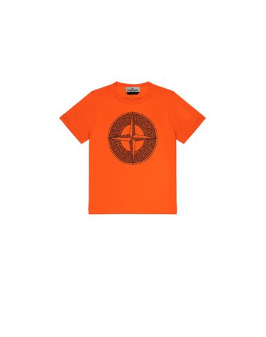 STONE ISLAND KIDS 21658 Short sleeve t-shirt Man Fluo orange USD 70