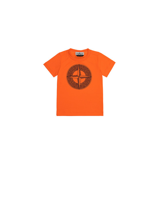 STONE ISLAND JUNIOR 21658 Short sleeve t-shirt Man Fluo orange