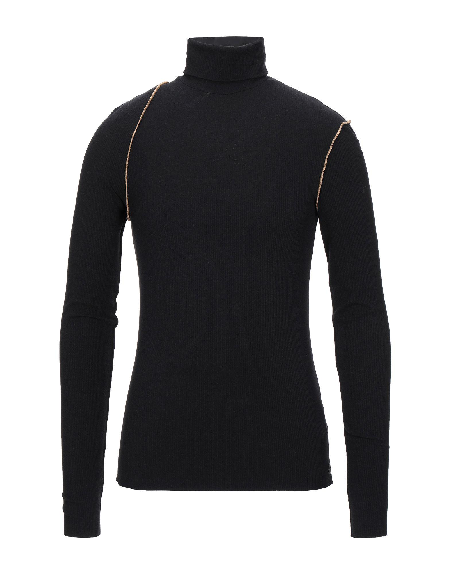 《セール開催中》NOSTRASANTISSIMA メンズ T シャツ ブラック L レーヨン 85% / カシミヤ 9% / ポリウレタン 6%