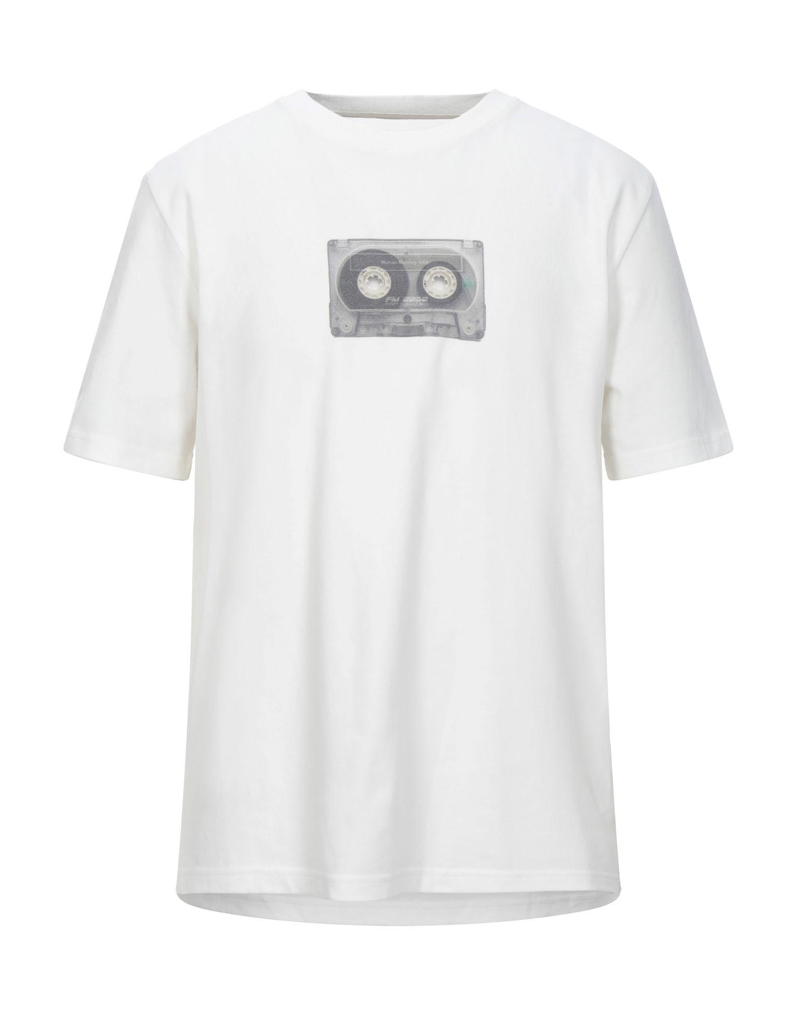 《セール開催中》C2H4 メンズ T シャツ ホワイト S コットン 100% / ポリウレタン