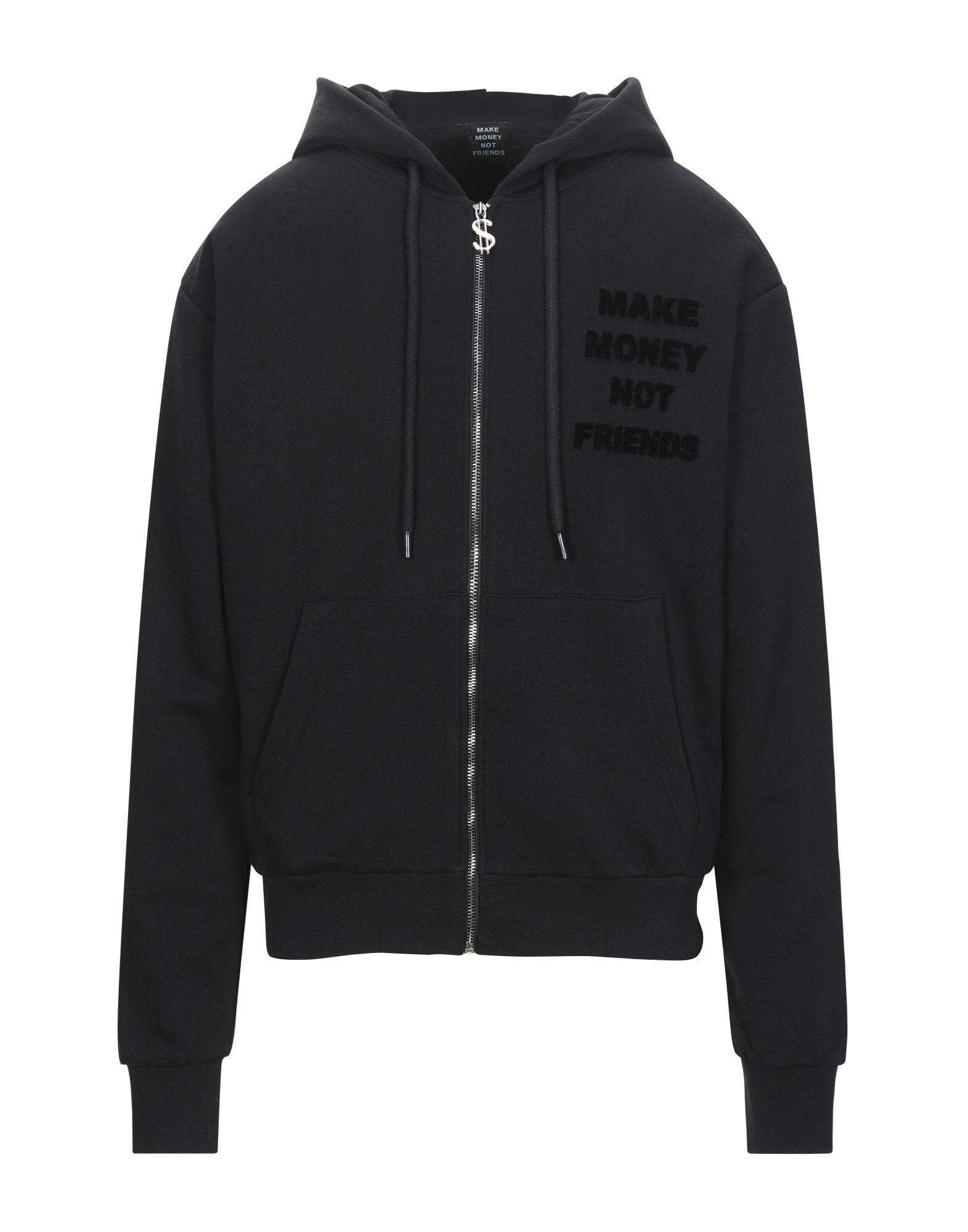 《セール開催中》MAKE MONEY NOT FRIENDS メンズ スウェットシャツ ブラック XXL コットン 100%