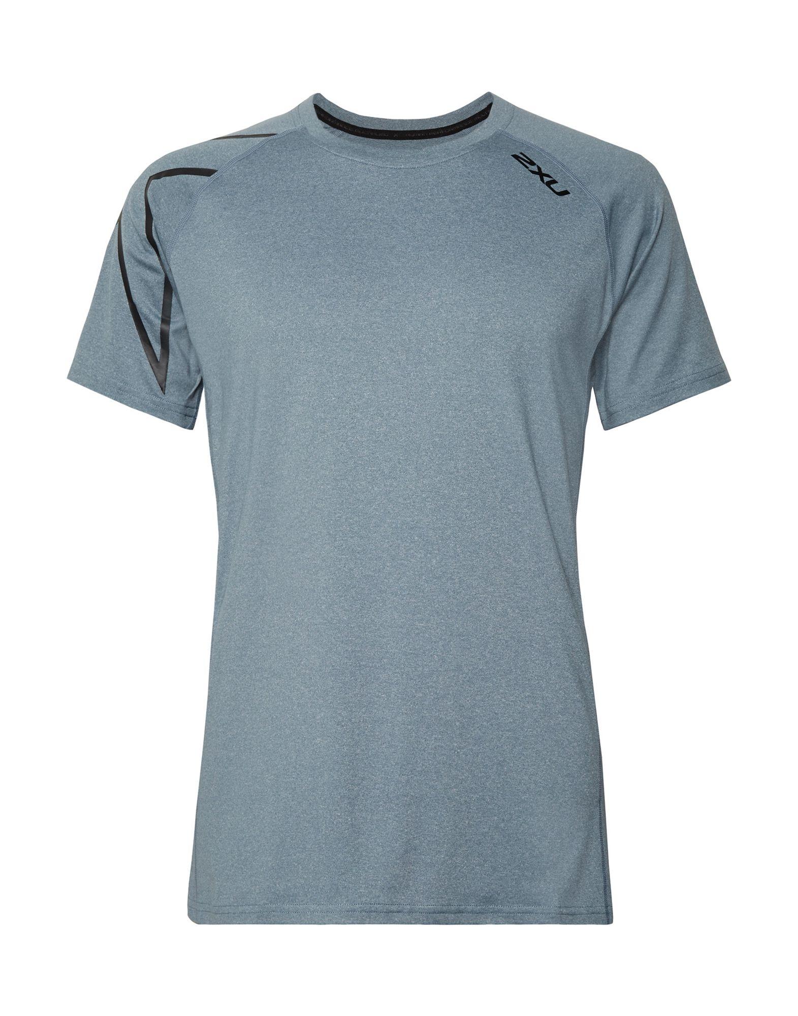 《セール開催中》2XU メンズ T シャツ ブルーグレー XL ポリエステル 48% / ナイロン 44% / ポリウレタン 8%
