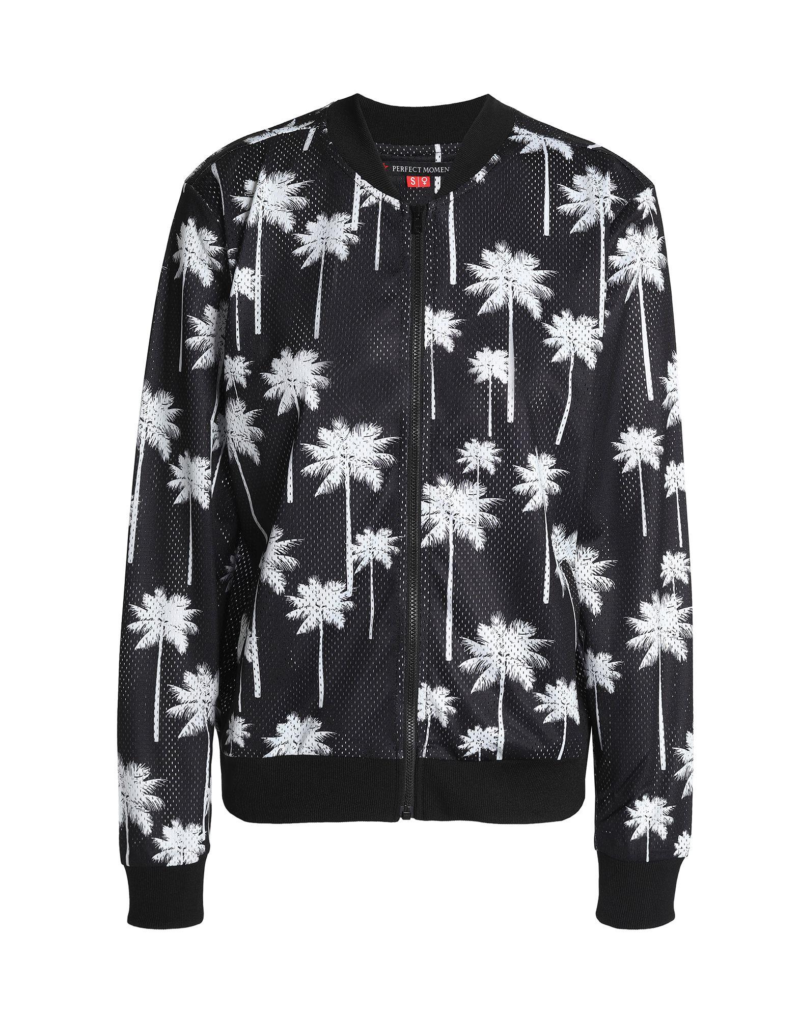 《セール開催中》PERFECT MOMENT レディース スウェットシャツ ブラック XS ポリエステル 100%