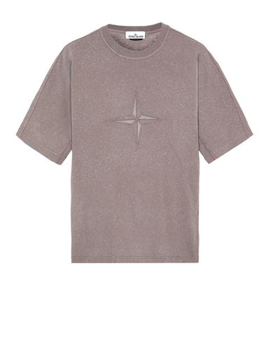 STONE ISLAND 24555 FLECK TREATMENT Short sleeve t-shirt Man MAHOGANY BROWN EUR 239