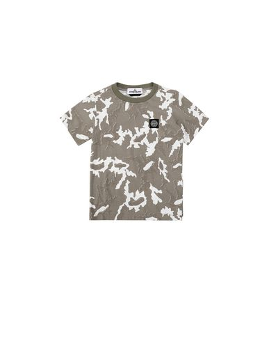 STONE ISLAND KIDS 21650 CAMOUFLAGE Short sleeve t-shirt Man Beige USD 70