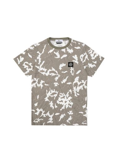 STONE ISLAND TEEN 21650 CAMOUFLAGE Short sleeve t-shirt Man Beige USD 81