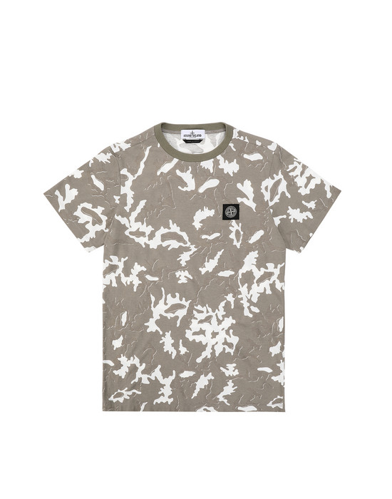 Short sleeve t-shirt Man 21650 CAMOUFLAGE Front STONE ISLAND TEEN