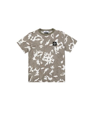 STONE ISLAND JUNIOR 21650 CAMOUFLAGE Short sleeve t-shirt Man Beige EUR 88