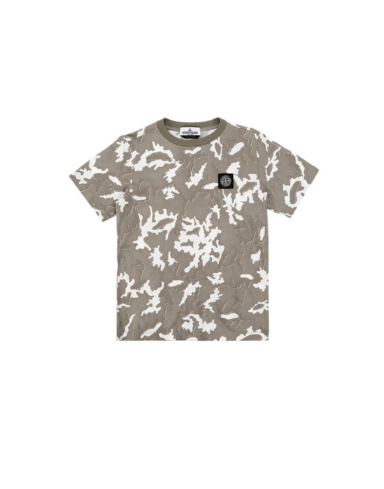 STONE ISLAND JUNIOR 21650 CAMOUFLAGE Short sleeve t-shirt Man Beige