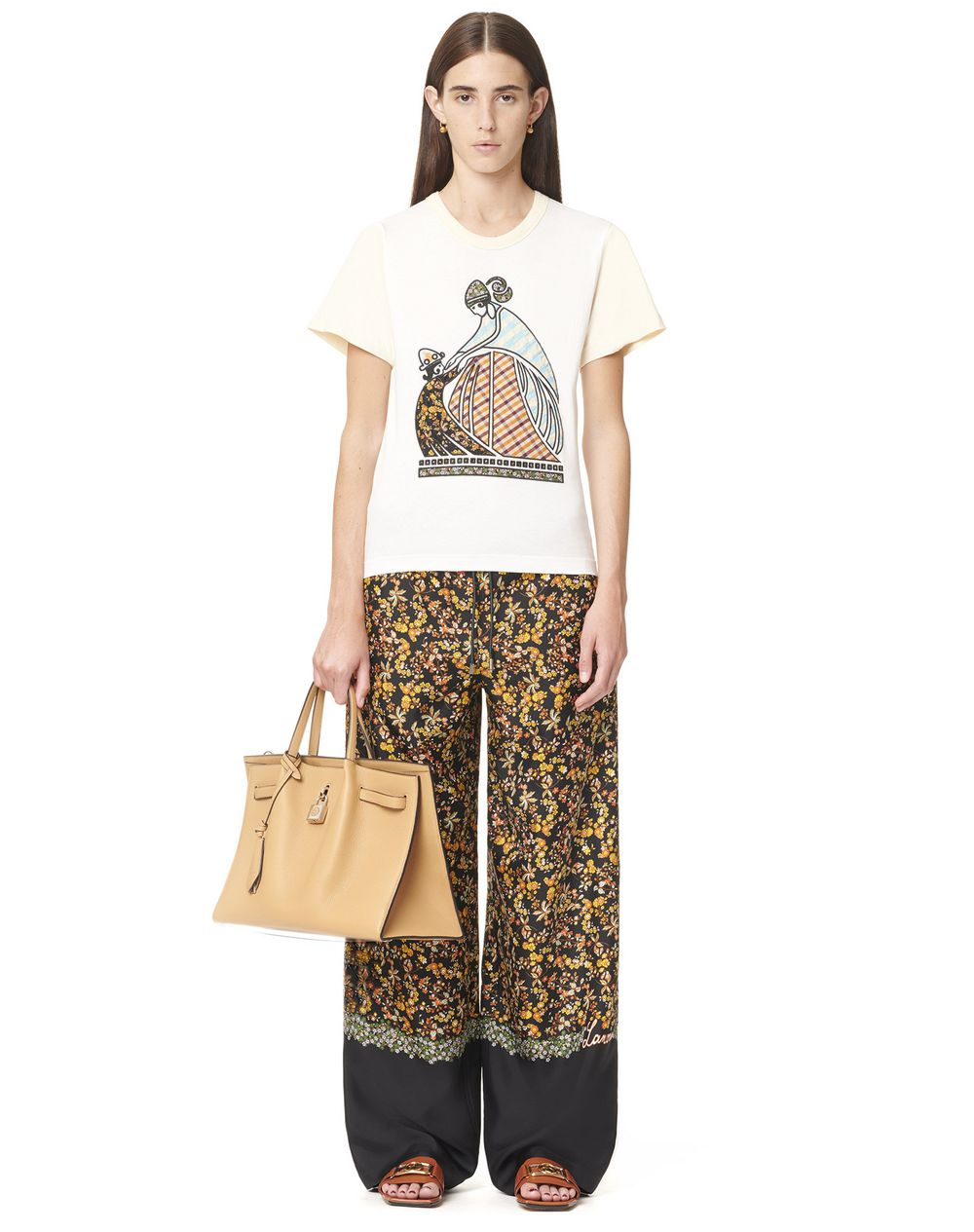 T-SHIRT WITH PATCHWORK ARTWORK - Lanvin