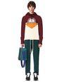 LANVIN Sweatshirts Man PRINTED PATCHWORK HOODIE f