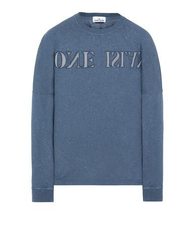 STONE ISLAND 24455 FLECK TREATMENT Long sleeve t-shirt Man Marine Blue EUR 238