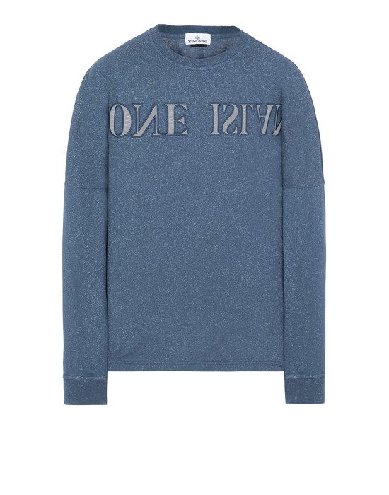 STONE ISLAND 24455 FLECK TREATMENT Long sleeve t-shirt Man Marine Blue
