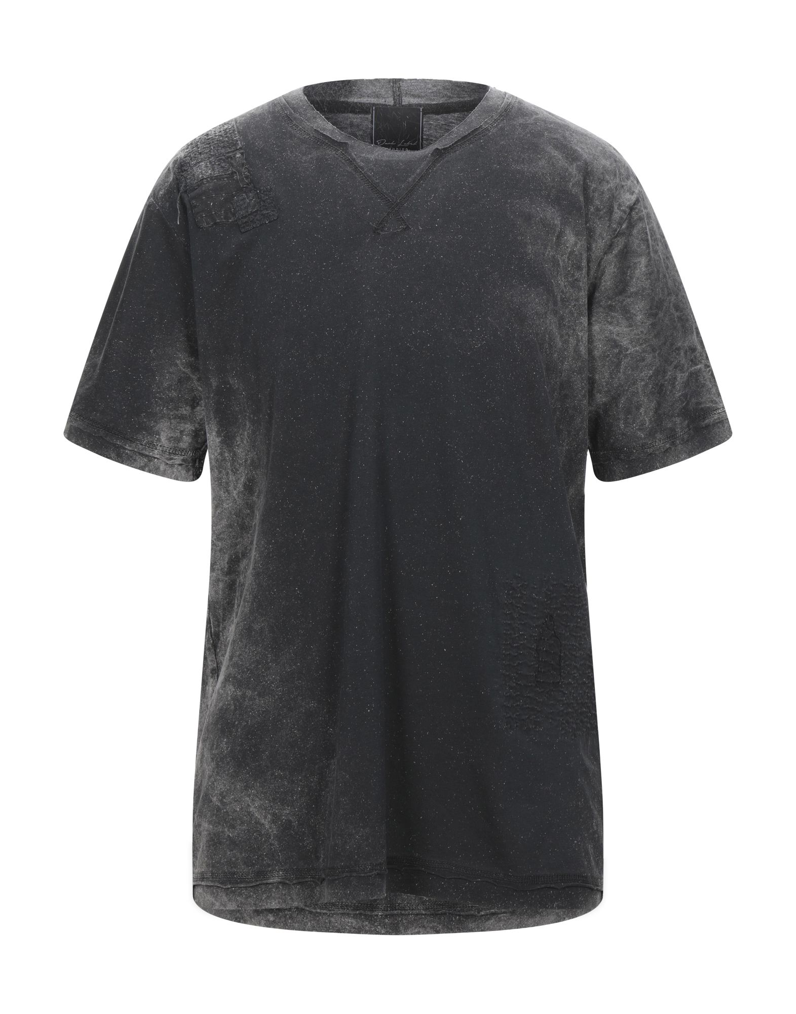 《セール開催中》DARK LABEL メンズ T シャツ スチールグレー S コットン 100%