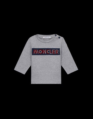 LONG-SLEEVED T-SHIRT Grey Baby 0-36 months - Boy Man