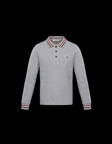 LONG-SLEEVED POLO Grey New in Man